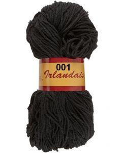écheveau de 200 g irlandais de lammy coloris 001 noir