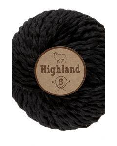 pelote HIGHLAND8 de Lammy - 50 % laine - 100 g - coloris 001 noir
