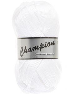 Pelote 100g Champion uni coloris 005 blanc