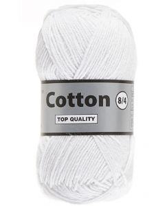 pelote 50 g Coton 8/4 coloris blanc 005 bain 220