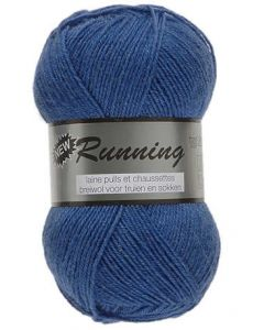 pelote de 50 g de fil chaussettes RUNNING coloris 039 bleu nattier