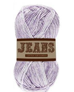 Pelote 50 g Jeans 100% coton coloris jeans violet clair 03
