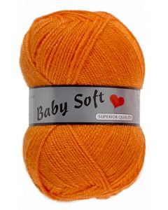 pelote 50 g Baby soft uni de Lammy 041 orange