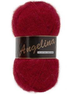 pelote de 100 g Angelina de Lammy coloris rouge 043