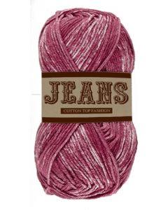 Pelote 50 g Jeans 100% coton coloris jeans rouge 05