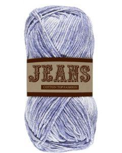 Pelote 50 g Jeans 100% coton coloris jeans bleu clair 09