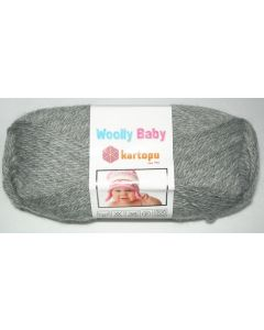 pelote 50 g layette WOOLLY BABY coloris gris 1001