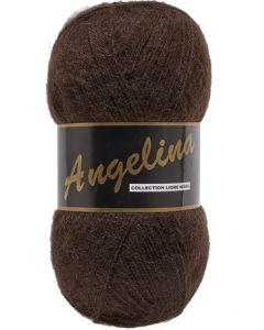pelote de 100 g Angelina de Lammy coloris marron foncé 110