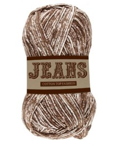 Pelote 50 g Jeans 100% coton coloris marron 13