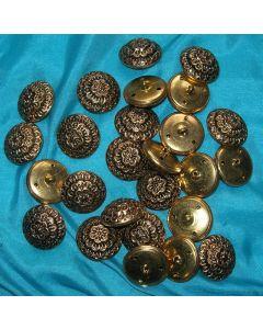 destockage - lot 26 boutons métal doré 22 mm