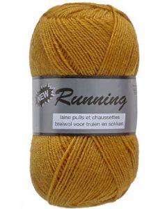 pelote de 50 g de fil chaussettes RUNNING coloris 350 moutarde