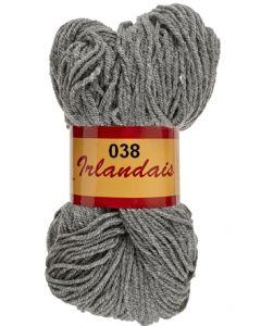 écheveau de 200 g irlandais de lammy coloris 038 gris