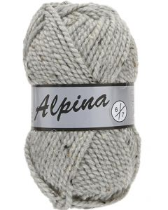 pelote 100 g Alpina6 de Lammy coloris 420 gris clair tweed