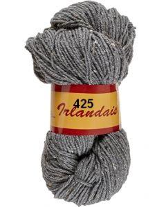 écheveau de 200 g irlandais de lammy 425 gris anthracite moucheté