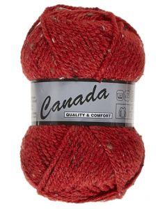 pelote 50 g canada de lammy 435 rouge moucheté