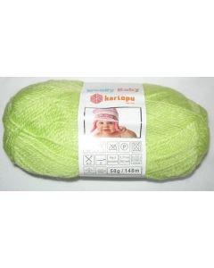 pelote 50 g layette WOOLLY BABY coloris vert anis 439