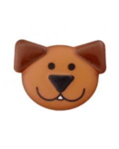 bouton 20 mm polyamide tête de chien - offre 4 + 1