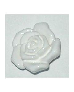 bouton fleur 18 mm réf 451018 de knopf coloris blanc
