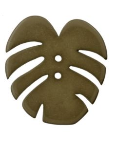 grand bouton knopf polyester forme de feuille 40 mm