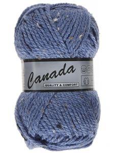 pelote 50 g canada de lammy 455 bleu jeans moucheté