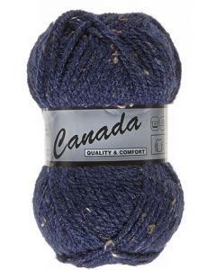 pelote 50 g canada de lammy 460 bleu foncé moucheté