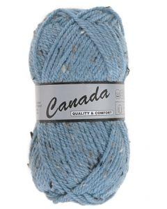 pelote 50 g canada de lammy bleu moucheté 462