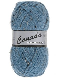 pelote 50 g canada de lammy bleu moucheté 463