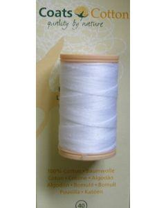 bobine 100 m de fil à coudre coton coloris blanc n°40