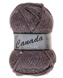 pelote 50 g canada de lammy 470 violet d'évèque moucheté