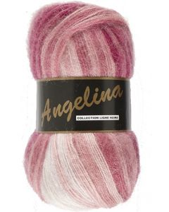 pelote de 100 g Angelina de Lammy coloris multicolore 622 framboise