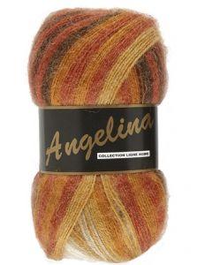 pelote de 100 g Angelina de Lammy coloris multicolore 625 orangé