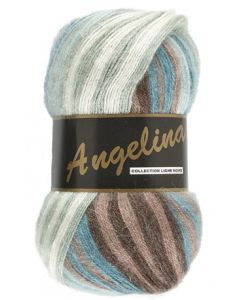 pelote de 100 g Angelina de Lammy coloris multicolore 629 bleu marron