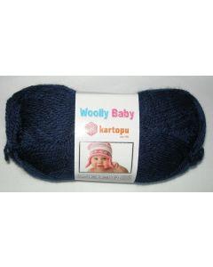 pelote 50 g layette WOOLLY BABY coloris bleu marine 632