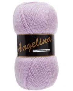 pelote de 100 g Angelina de Lammy coloris rose violacé 738