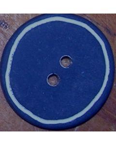 bouton 18 mm plastique bleu marine avec trait blanc