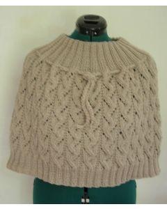 Kit tricot chauffe épaules fantaisie en Irlandaise T 38/40 à 54/56