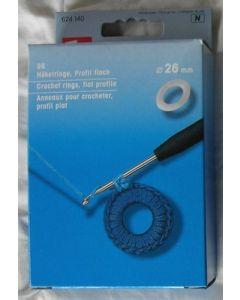 96 anneaux plastiques 26 mm à crocheter