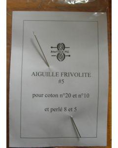 Aiguille à frivolité pour coton n°10 à 20