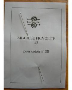 Aiguille à frivolité pour coton n°80 environ