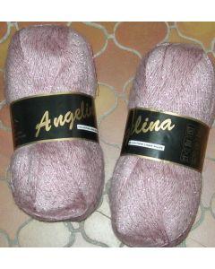 pelote de 100 g Angelina de Lammy coloris 930 rose avec lurex