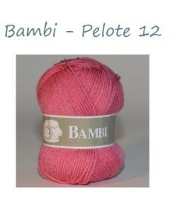 Pelote de 50 g Bambi de TDLM coloris rose 12