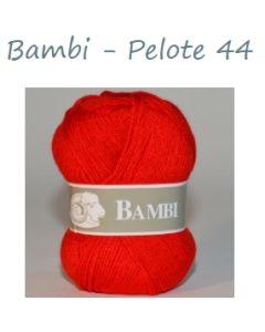 Pelote de 50 g Bambi de TDLM coloris rouge 44
