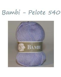 Pelote de 50 g Bambi de TDLM coloris mauve 540
