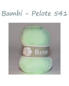 Pelote de 50 g Bambi de TDLM coloris vert tendre 541