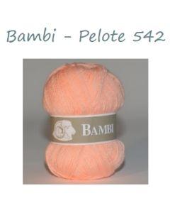 Pelote de 50 g Bambi de TDLM coloris melon 542