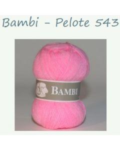 Pelote de 50 g Bambi de TDLM coloris rose 543