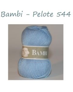 Pelote de 50 g Bambi de TDLM coloris bleu clair 544