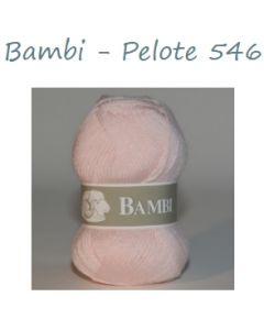 Pelote de 50 g Bambi de TDLM coloris rose clair 546