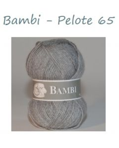Pelote de 50 g Bambi de TDLM coloris gris 65