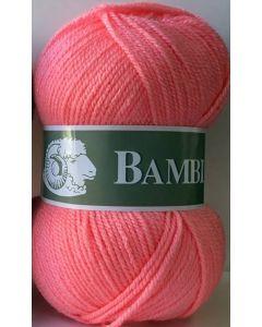 Pelote de 50 g Bambi de TDLM coloris 790 pétunia (rose)